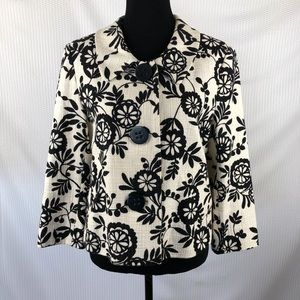 Style & Co / Floral cropped blazer